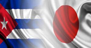 Banderas de Cuba y Japón