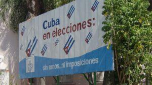 Cartel elecciones Cuba