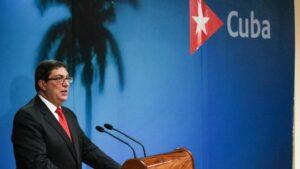 El ministro de Exteriores de Cuba, Bruno Rodríguez